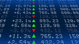 Digital Stock exchange panel high resolution