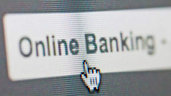 picture of computer screen button for online banking