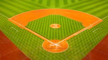 illustration of baseball diamond