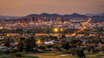 The Phoenix skyline at night