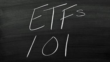 """The words """"ETFs 101"""" on a blackboard in chalk"""