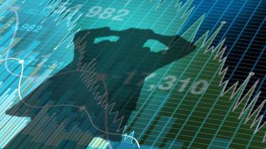 stock market selloff concept