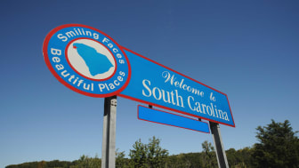 picture of welcome to South Carolina road sign
