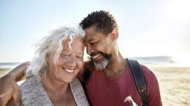 Retirees on a beach
