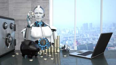 Concept art of an artificial intelligence broker