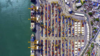 A shipping port