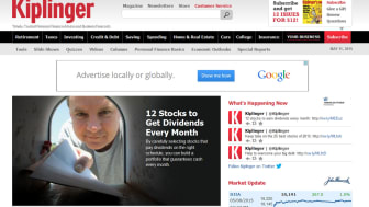 A screenshot of Kiplinger.com