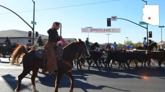 A rodeo parade in downtown Buckeye, Ariz.