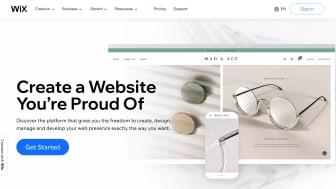 Wix.com homepage screen grab
