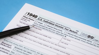 picture of a 2020 tax form