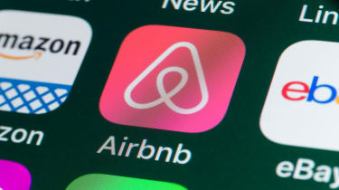 Airbnb app on a phone screen