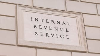 """picture of sign on IRS building saying """"Internal Revenue Service"""""""