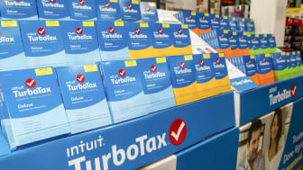 FOSTER CITY, CA - JANUARY 28:TurboTax products sit on display at Costco on January 28, 2016 in Foster City, California.(Photo by Kimberly White/Getty Images for TurboTax)