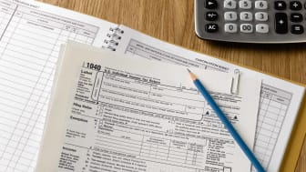 IRS forms on a desktop