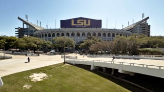 Tiger Stadium, popularly known as Death Valley, is an outdoor stadium located on the campus of Louisiana State University, and home of the LSU Tigers football team.