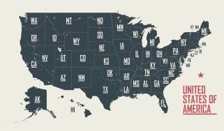 state map of the United States