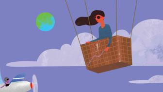 lady in balloon gondola