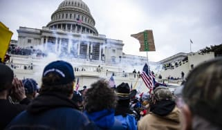 A violent pro-Trump mob surrounds the U.S. Capitol on Wednesday
