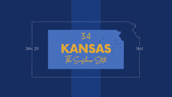 picture of Kansas with state nickname