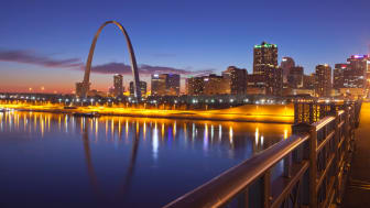 St. Louis and the Gateway Arch in Missouri