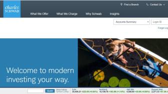 Screenshot of Charles Schwab home page