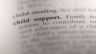 "picture of dictionary focusing on definition of ""child support"""