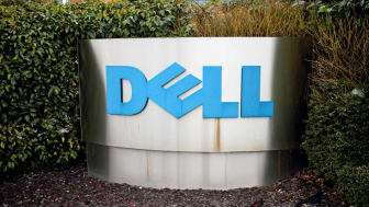Bracknell, United Kingdom - January 18, 2015: The Dell Corporation Ltd sign at the entrance of their registered company address in Bracknell, England. Dell opened their first international su