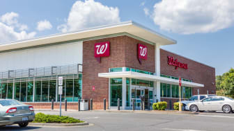 Shelby, NC, USA-9 August 2019:A Walgreens Pharmacy, building and parking lot.