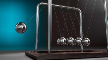pendulum swinging