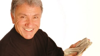 smiling man with money model released copy space 163
