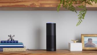 Photo of Amazon Alexa smart speaker.