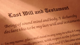 picture of a last will and testament