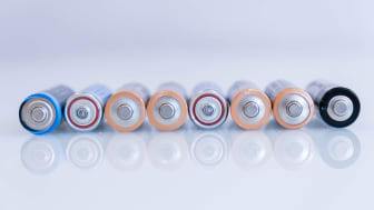 A row of batteries