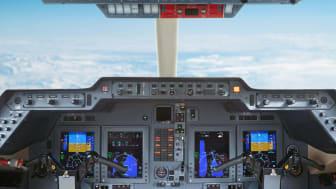 Jet flying on autopilot