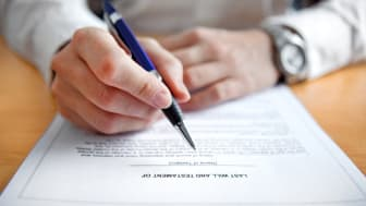 Paperwork for a will.
