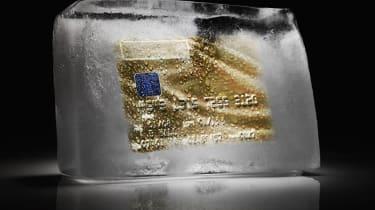 Frozen consumer credit spending freeze