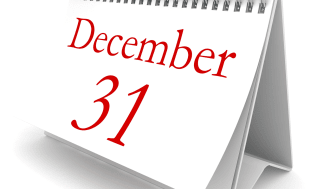 New year calendar december 31