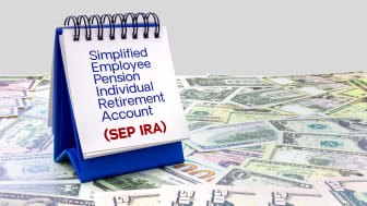 Picture Of SEP IRA Written On Notes