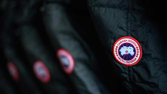 PARK CITY, UT - JANUARY 18:A detailed view of the Canada Goose logo on coats inside the Canada Goose Director Suite during the 2018 Sundance Film Festival Marriott on January 18, 2018 in Park