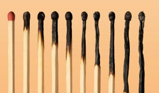 A series of burnt matches.