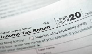 picture of Form 1040 tax form for 2020