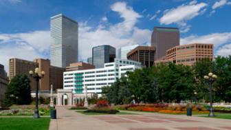 Denver Skyline from Civic Park