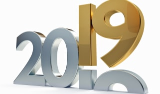 2019 year bold 3d rendering