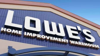 A Lowe's store sign