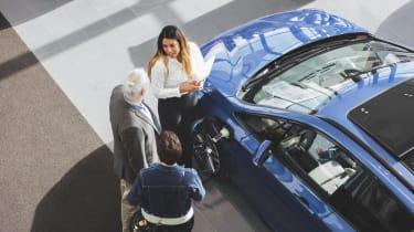 photo illustration of car buying