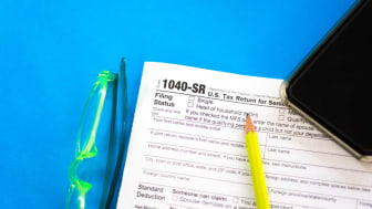 picture of IRS form 1040-SR