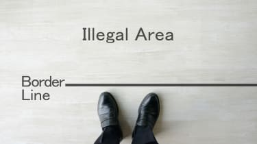 picture of person up to the border line between legal and illegal activity