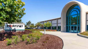 July 31, 2019 Sunnyvale / CA / USA - Fortinet headquarters in Silicon Valley; Fortinet, Inc. is an American company that develops and markets cybersecurity software and services