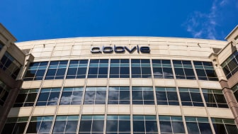 The exterior front of AbbVie's headquarters