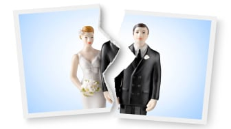 picture of wedding photo cut in half
